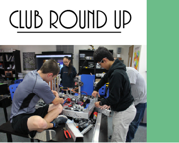 The logo for the club round up posts club pictures and title