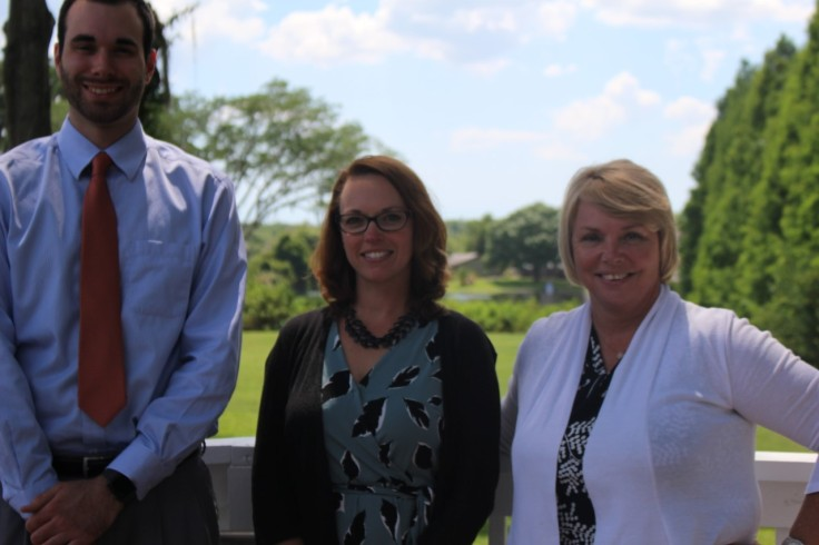 A picture of the admissions team (left) Matt Grosenbach (middle) Melissa Starkey (right) Sue Gunther Taken by: Jack Gunther